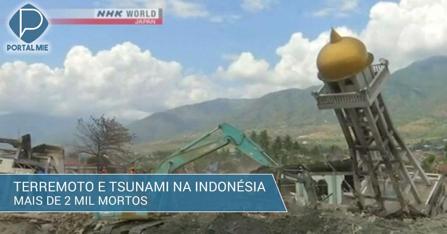 &nbspIndonésia: mais de 2 mil mortos em terremoto e tsunami