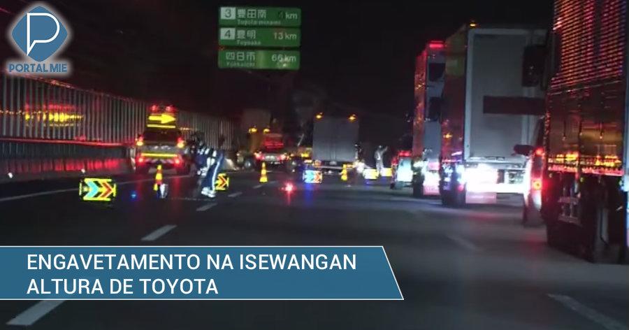 &nbspAcidente com 4 caminhões na Isewangan fere 1 pessoa