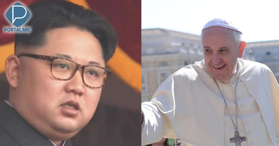 &nbspKim Jong-un convida Papa Francisco para visitar a Coreia do Norte