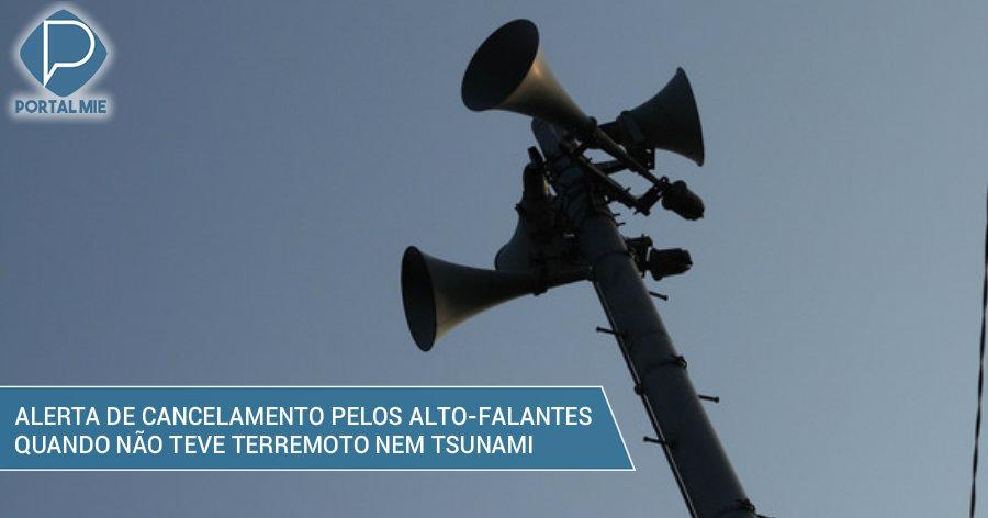 &nbspSusto em Mie: anúncio de cancelamento de alerta de tsunami nos alto-falantes