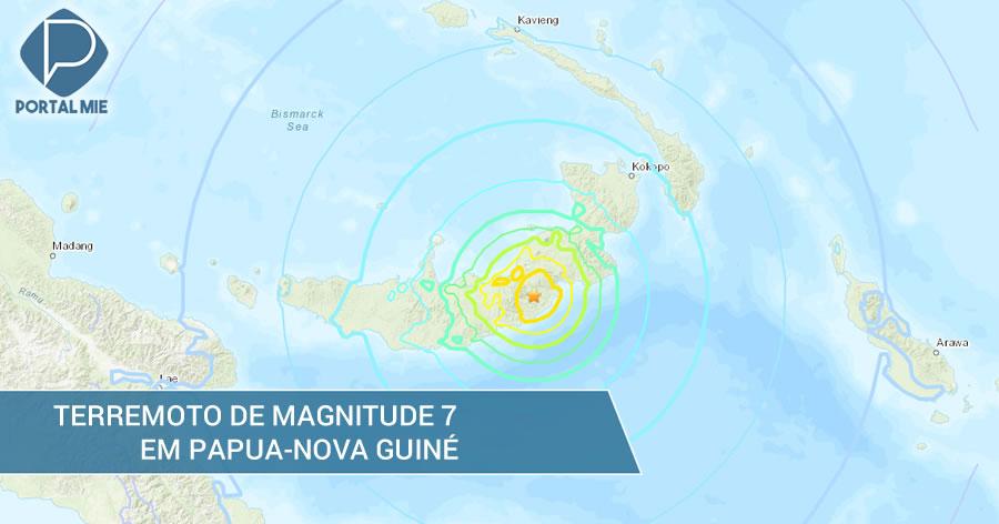 &nbspTerremoto de magnitude 7 atinge Papua-Nova Guiné