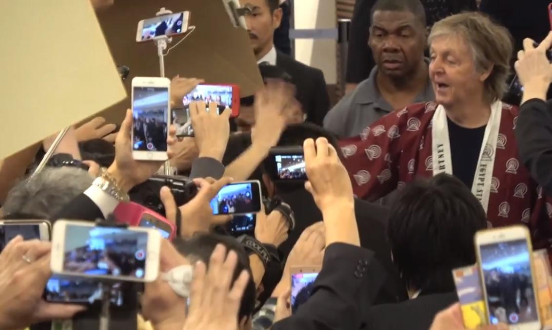 &nbspPaul McCartney chega ao Japão para sua turnê