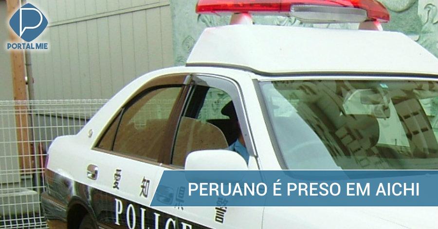 &nbspPeruano é preso em Aichi
