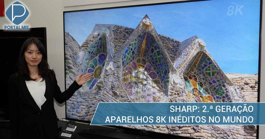 &nbspTevê 8K com sintonizador inédito no mundo: Sharp anuncia lançamento