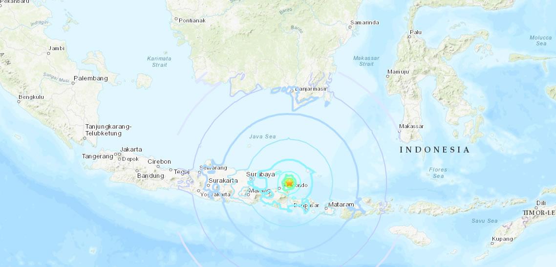 &nbspMais um forte terremoto atinge a Indonésia