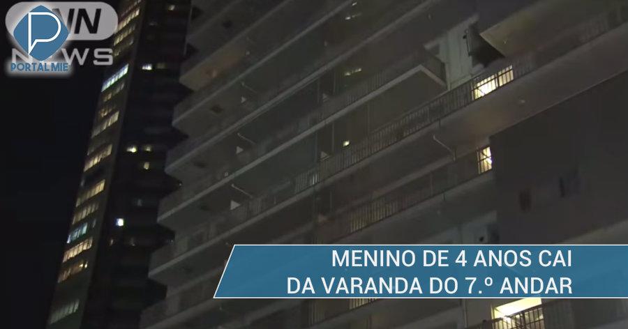 &nbspMenino cai do 7.º andar e morre