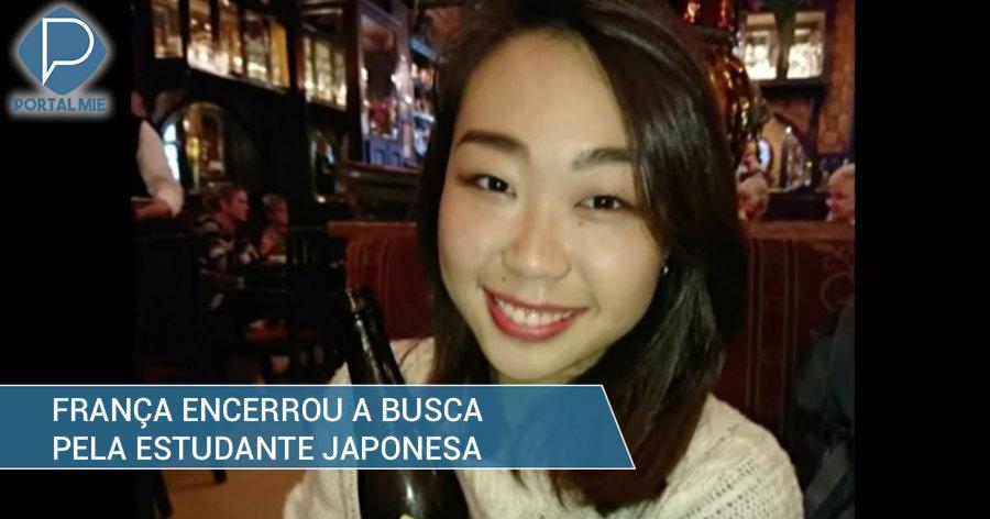 &nbspFrança encerrou busca da estudante japonesa desaparecida