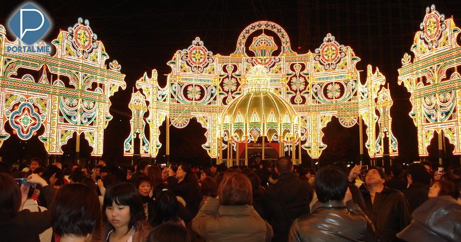 &nbspO encanto das luzes do Kobe Luminarie