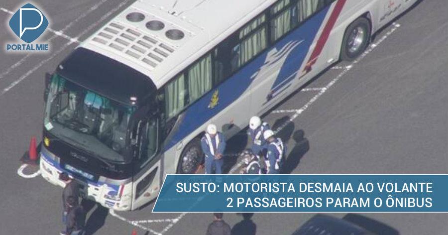 &nbspPassageiros salvam ônibus de acidente: motorista desmaia ao volante
