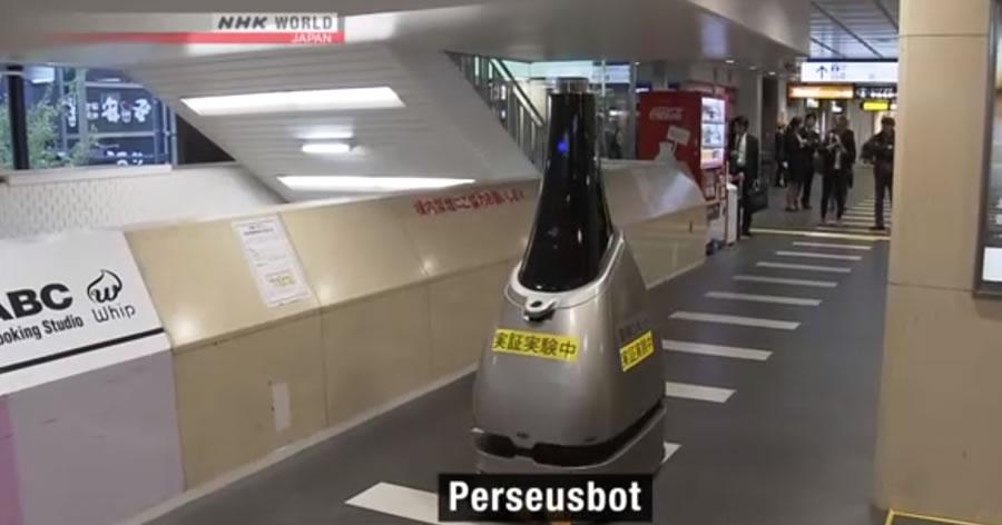 &nbspRobô de patrulha é testado em estação de trem no Japão