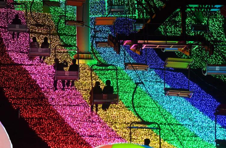 &nbspSagamiko Illumillion, um dos maiores eventos de iluminação na região Kanto