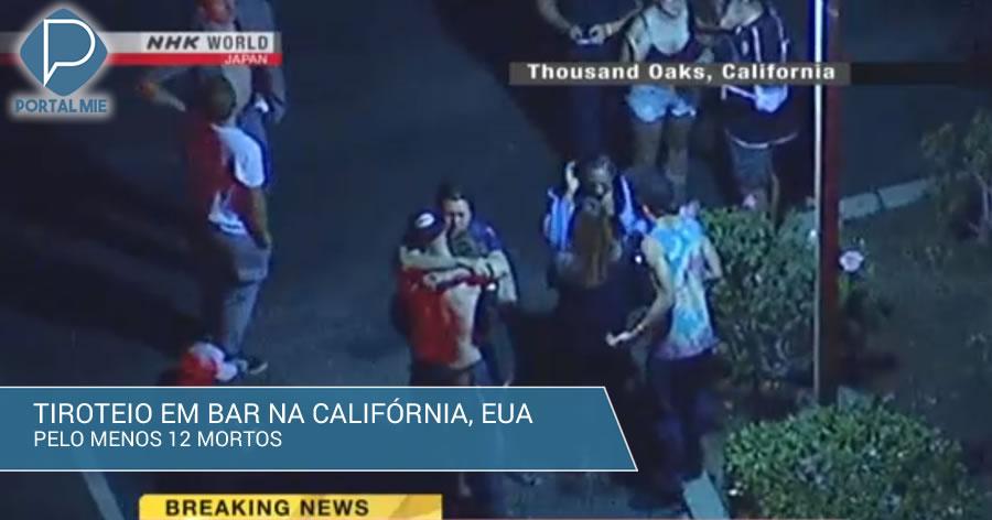 &nbspTiroteio em bar na Califórnia deixa pelo menos 12 mortos