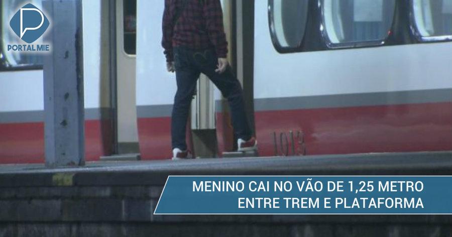 &nbspMenino fica preso entre vagão e plataforma, em Gifu