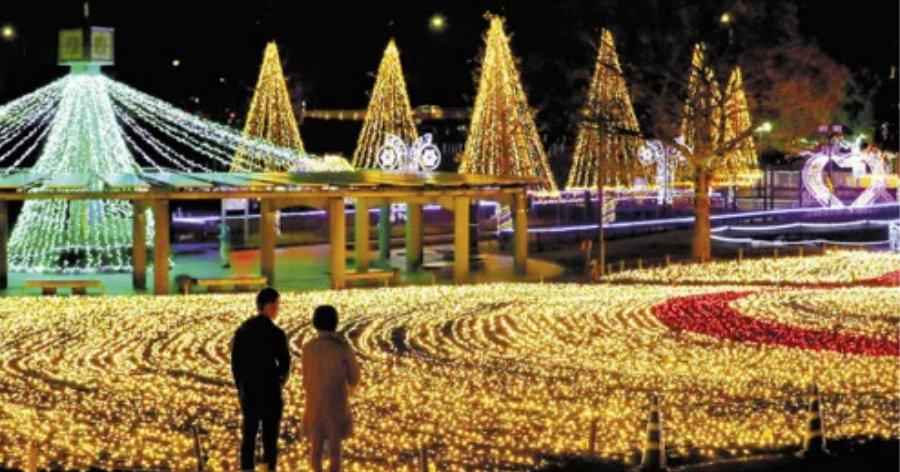 &nbspEspetacular iluminação com 500 mil lâmpadas, de graça