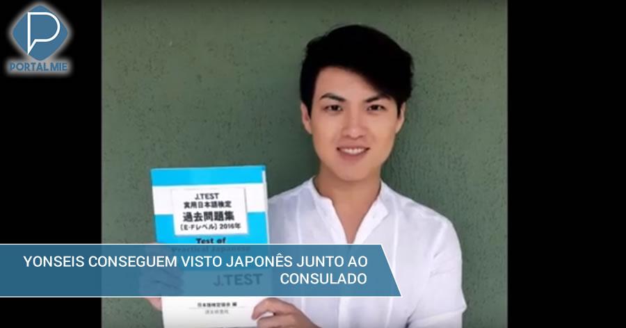 &nbspDois yonseis brasileiros obtêm o visto japonês