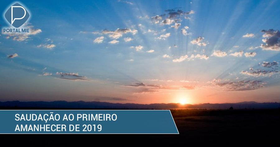 &nbspPrimeiro amanhecer de 2019