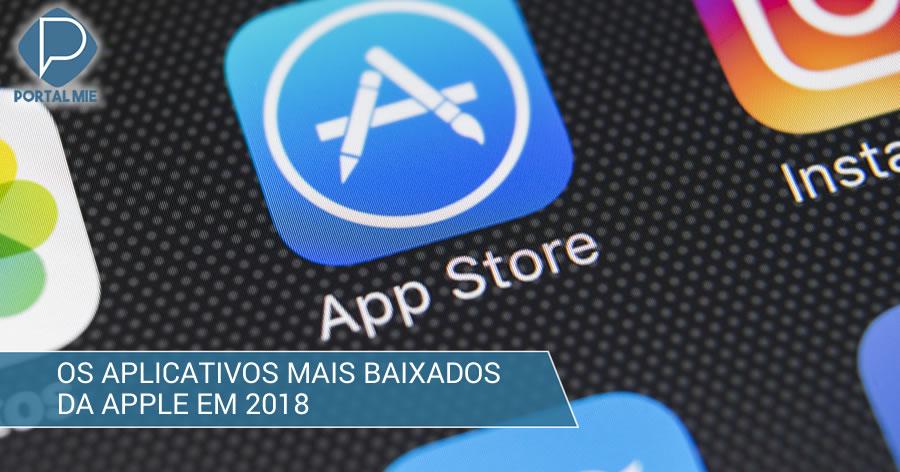 &nbspOs apps mais baixados da Apple em 2018