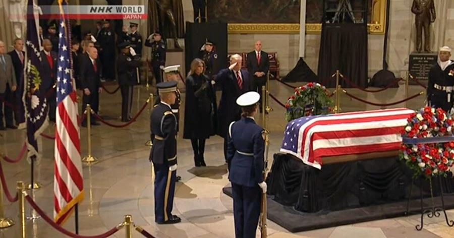 &nbspEx-presidente George H.W. Bush é velado no Capitólio