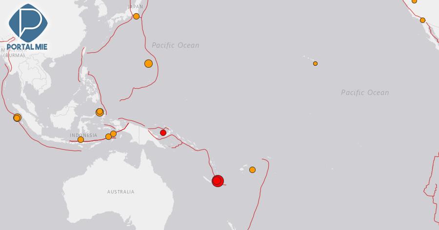 &nbspTerremoto de magnitude 7,5 na Nova Caledônia