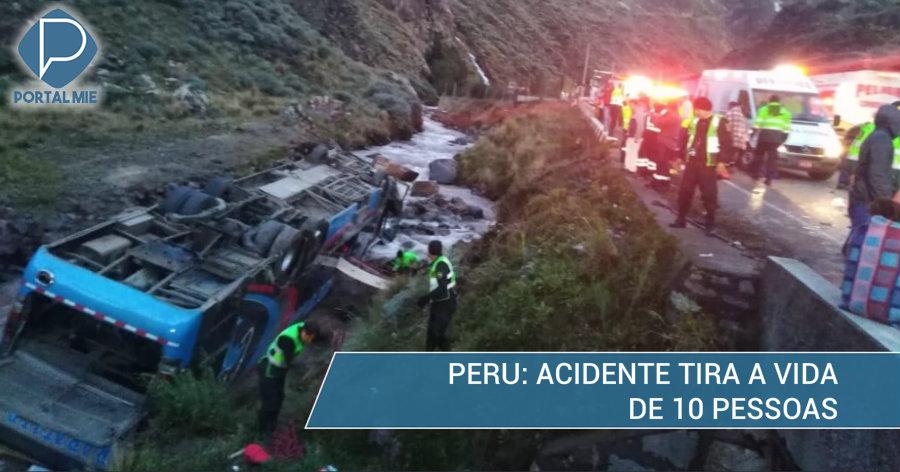 &nbspAcidente de ônibus no Peru mata 10 pessoas