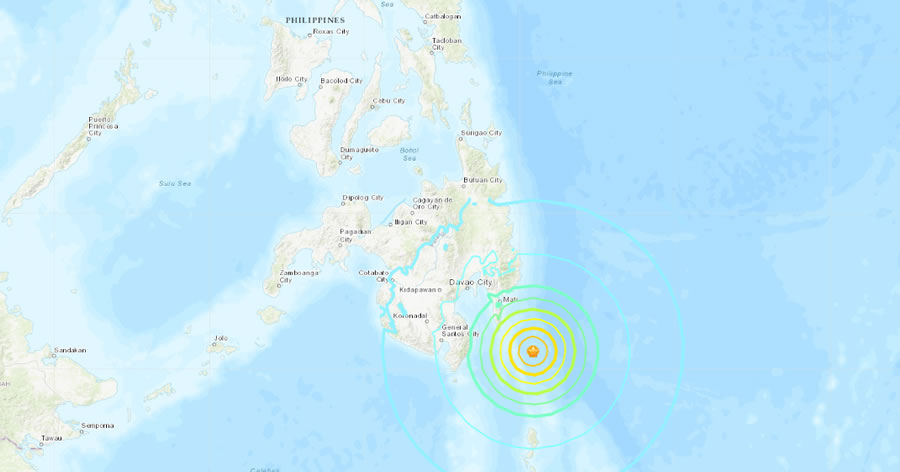 &nbspTerremoto de magnitude 6,9 atinge as Filipinas