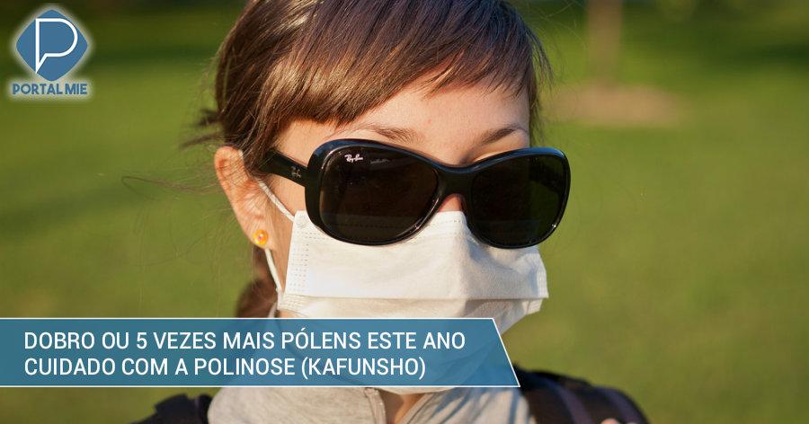 &nbspQuantidade de pólens alergizantes poderá ser 5 vezes maior este ano