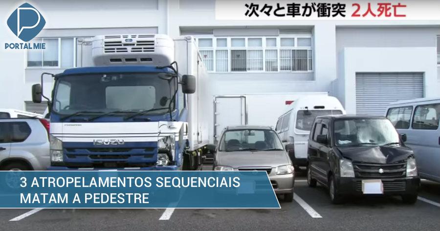 &nbspTrês atropelamentos sequenciais matam a pedestre