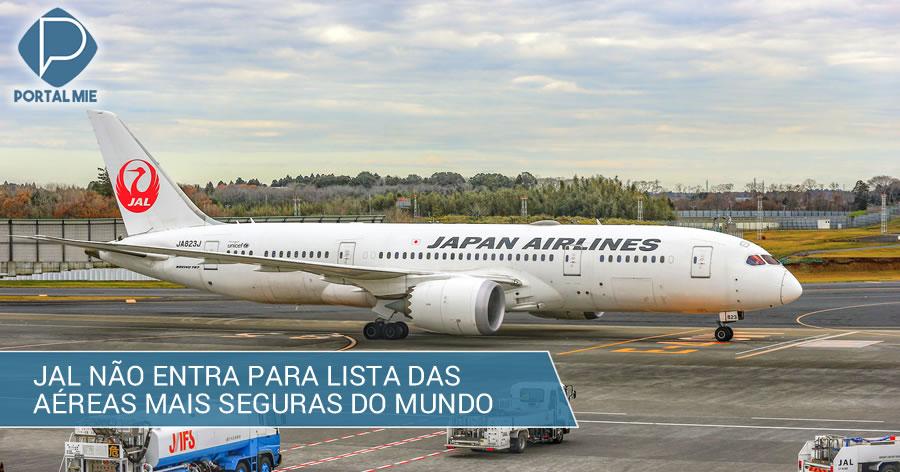 &nbspJAL é excluída de lista das companhias aéreas mais seguras do mundo