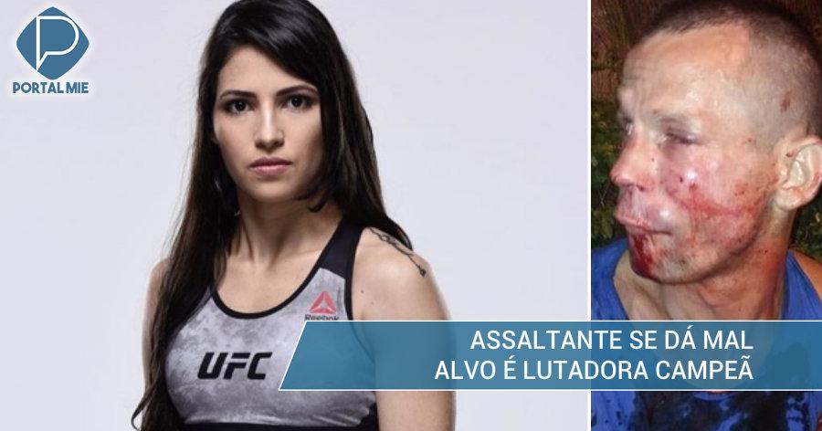 &nbspLutadora brasileira reage a assalto e arrebenta bandido