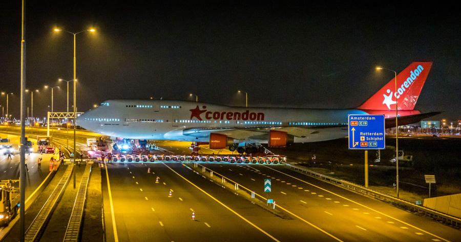 &nbspBoeing 747 atravessa estrada para se tornar atração de hotel