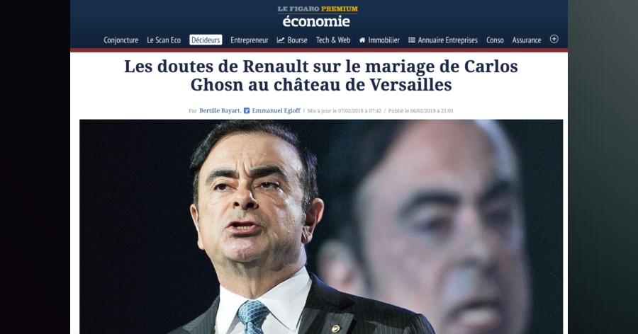 &nbspMais uma suspeita: Carlos Ghosn teria usado influência da Renault para seu casamento
