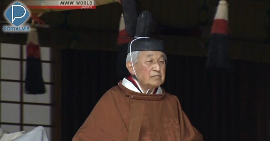 &nbspImperador Akihito inicia série de cerimônias relacionadas à sua abdicação