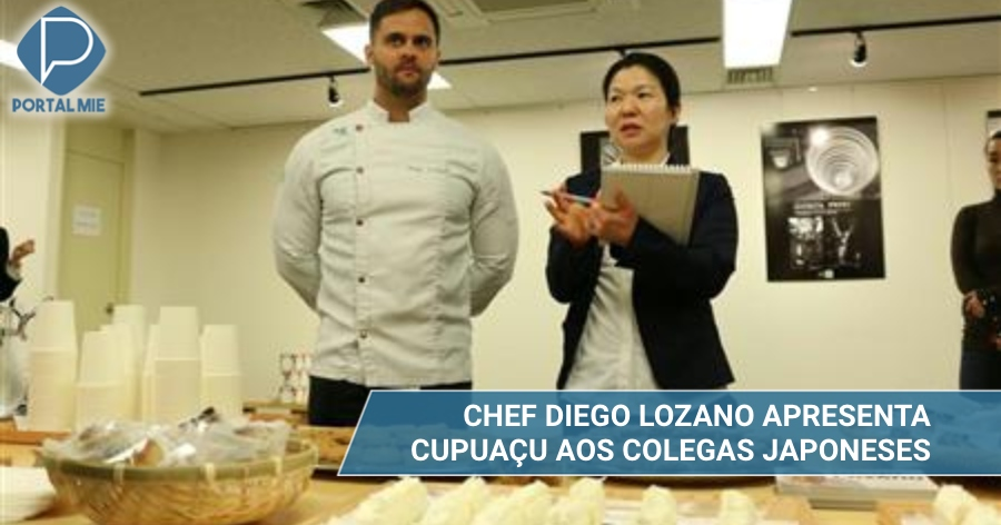 &nbspChef Diego Lozano apresenta frutas brasileiras para os japoneses
